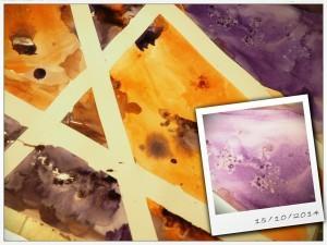 Tee maalarinteipillä rajauksia ja ripottele märälle pinnalle suolaa. Tuttuja juttuja, mutta ehkä unohtuneet?